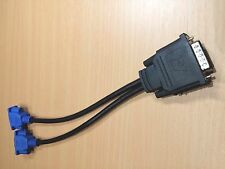 DMS-59 Male to 2x VGA 15 Pin Splitter Adapter Cable (25CM)
