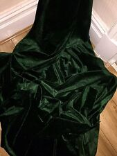 "5 MTR BOTTLE GREEN VELOUR/VELVET FABRIC..58"" WIDE £22.50  SPECIAL OFFER"