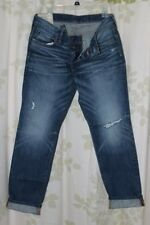 Abercrombie&Fitch Vintage Mens Destroyed Medium Wash Skinny Jeans RARE NEW 32x30