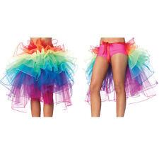 AU Sexy Adult Women Rainbow Skirt Tutu Rave Party Dance Bustle Burlesque Costume