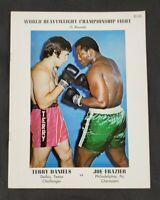 VTG 1972 Joe Frazier vs. Terry Daniels On Site Boxing Program New Orleans
