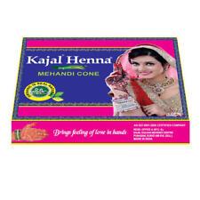 £5.59 BOX OF 12 FRESH ORGANIC Kajal DARK BROWN Henna Mehndi Cones Tubes *NO PPD*