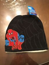 New With Tags Spiderman Reversible Winter Knit Hat Beanie Kids Boys One Size