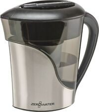 ZeroWater 8 Cup Pitcher in Stainless Steel with Free Water Quality Meter