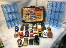 MATCHBOX 1983 OFFICIAL COLLECTORS CARRY CASE WITH 24 MATCHBOX CARS W/2-TRAYS