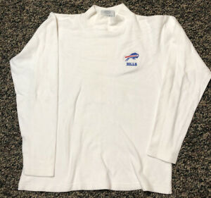 Vintage Buffalo Bills Shirt Turtleneck Women's Lee Sport Casual Medium 100Cotton