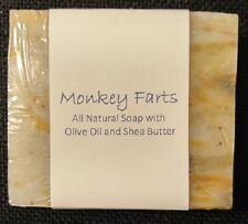** BEST SELLER ** - Handmade Olive Oil & Shea Butter Soap - Monkey Farts Scented