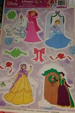 Disney Princess Christmas window clings Cinderella Snow White Auroura Belle #1