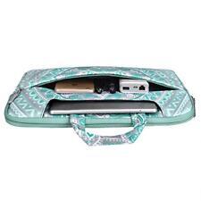 MacBook Air 13 Shoulder Bag Durable Zippered Briefcase Stylish Mint Green Blue