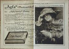 Prospekt ca. 1913 Agfa Berlin Photoartikel Foto Photo Fotografie Photographie