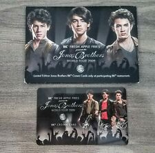 THE JONAS BROTHERS WORLD TOUR 2009 BURGER KING CROWN CARD IN HOLDER