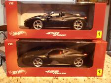 Hot Wheels Ferrari 458 Italia Coupe & 458 Spider