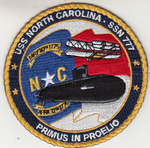 USS NORTH CAROLINA SSN-777 PATCH