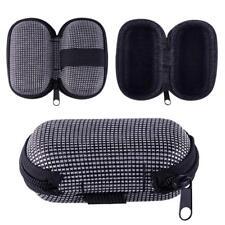 Portable EVA Zipper Sunglasses Hard Case Holder with Hook Hang Waist JMUS