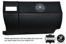 ORANGE STITCHING GLOVE BOX LEATHER COVER FITS CHRYSLER CROSSFIRE 03-08