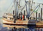 Kent Day Coes, AWS (American, b.1910) Orig. Watercolor Painting, c.1940's Maine