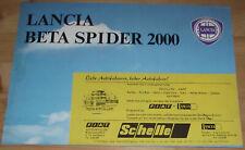 Prospekt Lancia Beta Spider 2000 1978