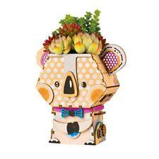 Rolife Koala Model DIY 3D Wooden Puzzle Flower Pot Children Toys for Boys Girls