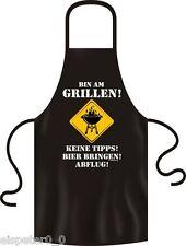 Grillschürze, Kochschürze, Küchenschürze, Bin am grillen, RAHMENLOS® 2911