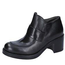 scarpe donna E...VEE 38 EU mocassini nero pelle DT761