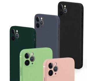 For iPhone 12 Mini Pro Max Shockproof  Cover Liquid Soft Silicone Bumper