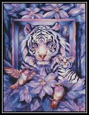 White Tiger 2- Cross Stitch Chart/Pattern/Design/XStitch
