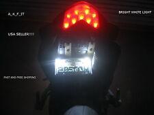 Universal Style White LED Motorcycle Car License Plate Bolt Light USA SELLER !>