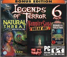 VAMPIRE SAGA 3: BREAKOUT + NATURAL THREAT Hidden Object 6 PACK PC Game NEW