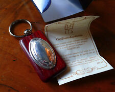 new boxed silver & wood keychain made in Italy with warranty for a nice gift