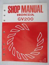 Honda Genuine Shop Service Manual GV200 GV 200 Engine Shop Manual
