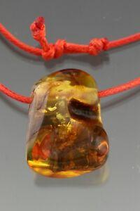 Genuine BALTIC AMBER Adjustable Red String Pendant Amulet 9.9g 210316-9