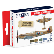 Hataka AS08-Royal Air Force en África Segunda Guerra Mundial conjunto De Pintura Acrílica - 4 X 17ml botellas