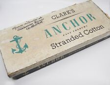 Vintage Clarks Anchor Stranded Cotton Thread Store Stock Display Box 12 Sections