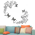 Butterfly Flower 3D DIY Removable Wall Sticker Decal Mural Room Home Decor