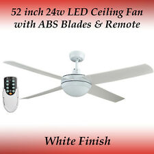 Rotor 52 inch LED Ceiling Fan in White with Light with ABS Blades and Remote