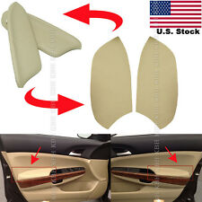 Leather Front Door Panels Armrest Cover for Honda Accord 2008-12 Sedan Beige Tan