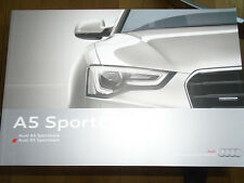 Audi A5 & S5 Sportback brochure Dec 2013 European market English text