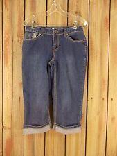 Christopher & Banks Jean Capris Stretch Cropped Women's Blue Denim Size 4P