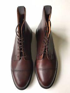 Crockett & Jones Coniston Brown Leather Cap Toe Danite Sole Boots US 11.5 D $750