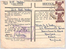 AN401 1944 WW2 INDIA AIR FORCES Honour Envelope *RAF CENSOR 58* Airmail Cover