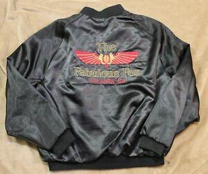 Vintage Late 1980s Fabulous Fox Theater Atlanta Black Satin Jacket Men's Size XL