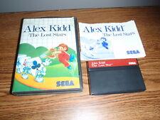 ALEX KIDD THE LOST STARS SEGA MASTER SYSTEM COMPLETE