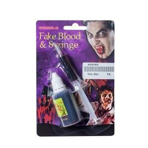 AKE BLOOD AND SYRINGE SCARY HORROR HALLOWEEN FANCY DRESS ACCESSORY