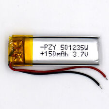 3.7V 150 mAh 501235 Rechargeable Li-Polymer Battery Li Po for GPS Bluetooth MP3