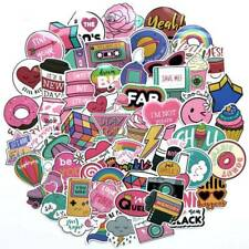60pcs Anime Cute Pink Stickers Decals Skateboard Car Luggage Laptop Vinyls Set