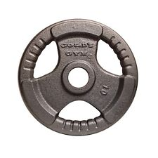 """Golds Gym 2"""" Olympic10kg Tri-Grip Weight Lifting Barbell Plate Dumbbell Disc"""