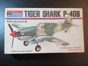 1973 VINTAGE MONOGRAM #6803 1/48 SCALE TIGER SHARK P-40B NEW PLANE MODEL
