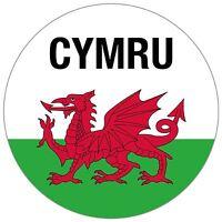 Wales Welsh Flag CYMRU Car Window Sticker 100mm on Clear Vinyl