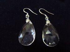 Handmade Drop/Dangle Swarovski Element Crystal Earring Sterling Silver Clear