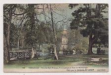 versailles , parc du petit-trianon , pont rustique et tour de malborough